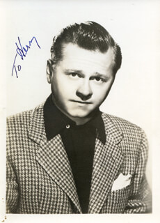 MICKEY ROONEY - PHOTOGRAPH UNSIGNED