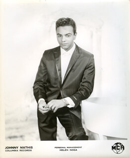 JOHNNY MATHIS - PHOTOGRAPH UNSIGNED
