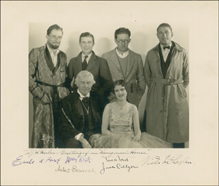 HANGMAN'S HOUSE MOVIE CAST - AUTOGRAPHED SIGNED PHOTOGRAPH CO-SIGNED BY: JUNE COLLYER, VICTOR McLAGLEN, HOBART BOSWORTH, JOHN FORD, EARLE A. FOXE, LARRY KENT - HFSID 279704