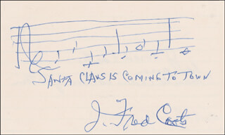 J. FRED COOTS - AUTOGRAPH MUSICAL QUOTATION SIGNED