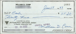 BILLY CONN - AUTOGRAPHED SIGNED CHECK 01/25/1983