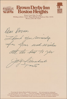 JAY TONTO SILVERHEELS - AUTOGRAPH LETTER SIGNED