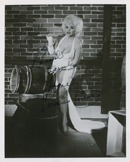 JAYNE MANSFIELD - AUTOGRAPHED INSCRIBED PHOTOGRAPH