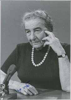 PRIME MINISTER GOLDA MEIR (ISRAEL) - AUTOGRAPHED SIGNED PHOTOGRAPH