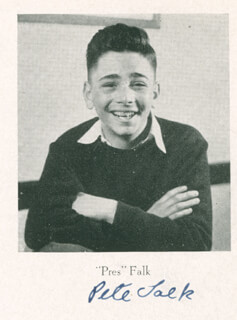 PETER FALK - BOOK SIGNED 1942