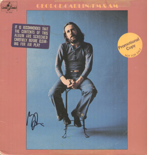GEORGE CARLIN - RECORD ALBUM COVER SIGNED