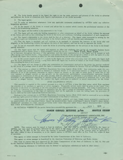MARTIN SHEEN - DOCUMENT SIGNED 11/01/1974