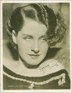 NORMA SHEARER - AUTOGRAPHED SIGNED PHOTOGRAPH 07/1932