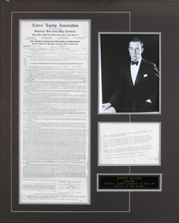 BUSTER KEATON - CONTRACT SIGNED 09/09/1957