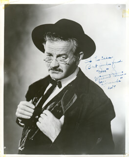 MILBURN STONE - AUTOGRAPHED INSCRIBED PHOTOGRAPH 1958