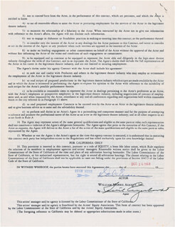 ROY ROGERS - CONTRACT DOUBLE SIGNED 06/02/1968