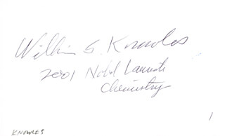 Autographs: WILLIAM S. KNOWLES - SIGNATURE(S)