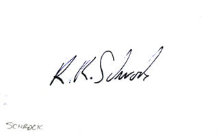 Autographs: RICHARD R. SCHROCK - SIGNATURE(S)