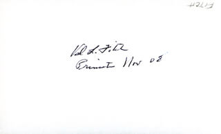 Autographs: VAL L. FITCH - SIGNATURE(S) 11/08