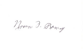 Autographs: NORMAN F. RAMSEY - SIGNATURE(S)