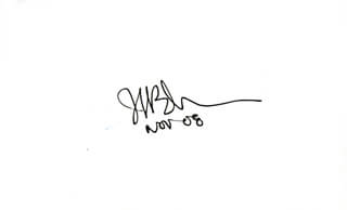 Autographs: JAMES M. BUCHANAN JR. - SIGNATURE(S) 11/2008