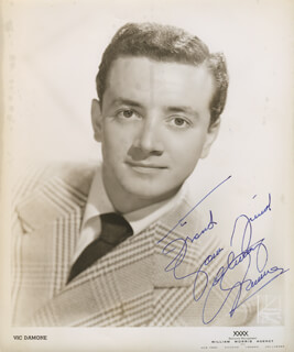 VIC DAMONE - AUTOGRAPHED INSCRIBED PHOTOGRAPH