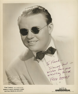 FRED LOWERY - AUTOGRAPHED INSCRIBED PHOTOGRAPH