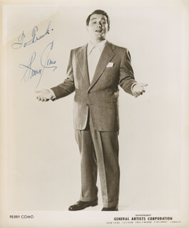 PERRY COMO - AUTOGRAPHED INSCRIBED PHOTOGRAPH