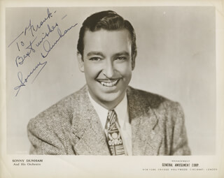 SONNY DUNHAM - AUTOGRAPHED INSCRIBED PHOTOGRAPH