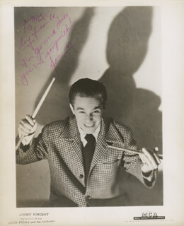 JIMMY VINCENT - AUTOGRAPHED INSCRIBED PHOTOGRAPH
