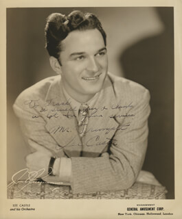 LEE CASTLE - AUTOGRAPHED INSCRIBED PHOTOGRAPH