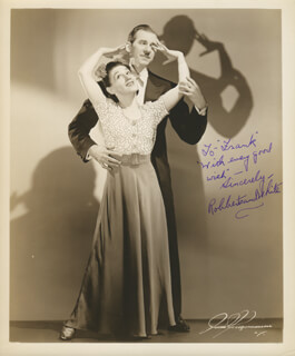 ROBBERTS AND WHITE - AUTOGRAPHED INSCRIBED PHOTOGRAPH