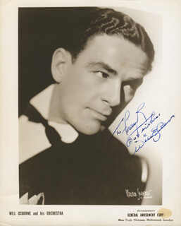 WILL OSBORNE - AUTOGRAPHED INSCRIBED PHOTOGRAPH