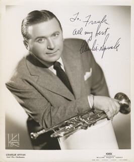 CHARLIE SPIVAK - AUTOGRAPHED INSCRIBED PHOTOGRAPH