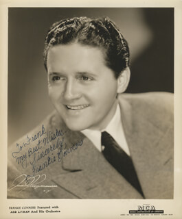 FRANKIE CONNORS - AUTOGRAPHED INSCRIBED PHOTOGRAPH