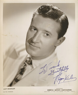 RAY McKINLEY - AUTOGRAPHED INSCRIBED PHOTOGRAPH