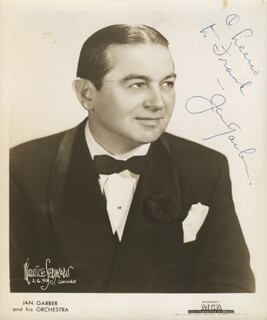 JAN GARBER - AUTOGRAPHED INSCRIBED PHOTOGRAPH