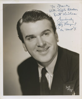 JOHNNY THOMPSON - AUTOGRAPHED INSCRIBED PHOTOGRAPH