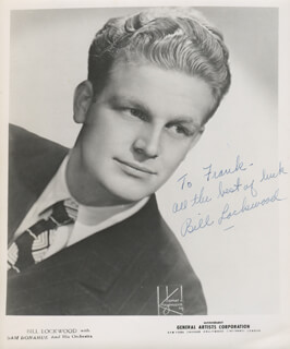 BILL LOCKWOOD - AUTOGRAPHED INSCRIBED PHOTOGRAPH