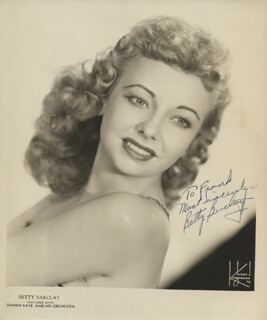 BETTY BARCLAY - AUTOGRAPHED INSCRIBED PHOTOGRAPH