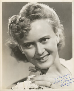 RUTH DAVIS - AUTOGRAPHED INSCRIBED PHOTOGRAPH 1944