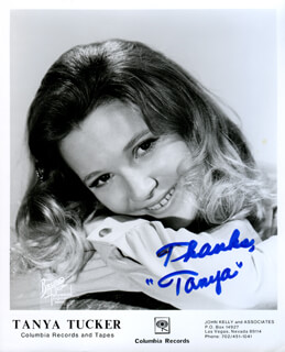 TANYA TUCKER - PRINTED PHOTOGRAPH SIGNED IN INK