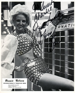 BONNIE NELSON - INSCRIBED PRINTED PHOTOGRAPH SIGNED IN INK