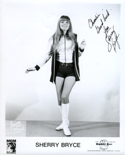 SHERRY BRYCE - AUTOGRAPHED INSCRIBED PHOTOGRAPH