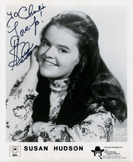 SUSAN HUDSON - AUTOGRAPHED INSCRIBED PHOTOGRAPH