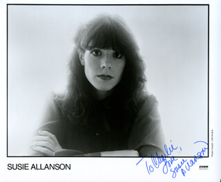 Autographs: SUSIE ALLANSON - INSCRIBED PHOTOGRAPH SIGNED