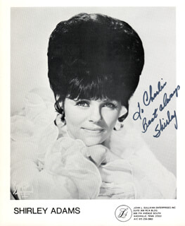 Autographs: SHIRLEY ADAMS - INSCRIBED PHOTOGRAPH SIGNED