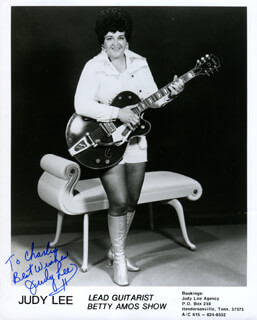JUDY LEE - AUTOGRAPHED INSCRIBED PHOTOGRAPH