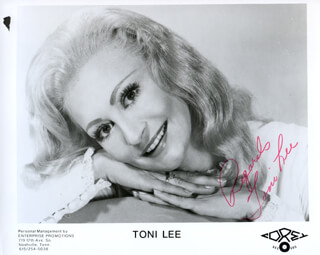 TONI LEE - AUTOGRAPHED SIGNED PHOTOGRAPH