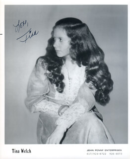 TINA WELCH - AUTOGRAPHED SIGNED PHOTOGRAPH