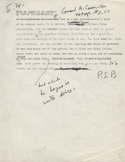 PEARL S. BUCK - TYPED MANUSCRIPT SIGNED