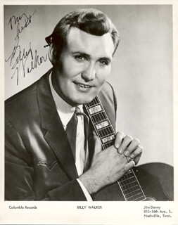 BILLY WALKER - AUTOGRAPHED SIGNED PHOTOGRAPH