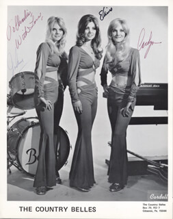 COUNTRY BELLES, THE - AUTOGRAPHED INSCRIBED PHOTOGRAPH CO-SIGNED BY: THE COUNTRY BELLES (JOANN LAMPERSKI), THE COUNTRY BELLES (CAROLYN LAMPERSKI), THE COUNTRY BELLES (ELAINE LAMPERSKI)