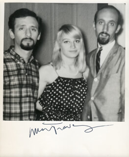 PETER, PAUL & MARY (MARY TRAVERS) - AUTOGRAPHED SIGNED PHOTOGRAPH