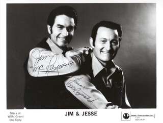 JIM & JESSE - AUTOGRAPHED SIGNED PHOTOGRAPH CO-SIGNED BY: JIM & JESSE (JIM MC REYNOLDS), JIM & JESSE (JESSE MC REYNOLDS)